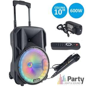 Sistema de Som portátil Party-10RGB com bateria e microfone