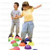 """Conjunto de 6 """"ilhas"""" para treino do equilíbrio."""