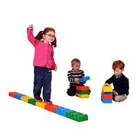 Tijolos multi-actividades em plástico 24x12x6cm