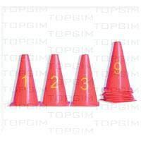 Conjunto de 10 cones de 23cm numerados de 0 a 9
