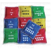 Conjunto de 10 sacos em algodão com numeração de 1 a 10