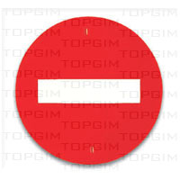 Sinal de trânsito para educação rodoviária: Sentido Proibido