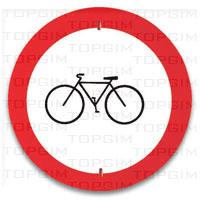 Sinal de trânsito para educação rodoviária: Trânsito Proibido a Velocípedes