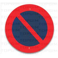 Sinal de trânsito para educação rodoviária: Estacionamento Proibido