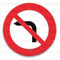 Sinal de trânsito para educação rodoviária: Proibição de Virar à Esquerda