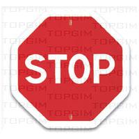 Sinal de trânsito para educação rodoviária: STOP - Paragem Obrigatória