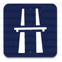 Sinal de trânsito para educação rodoviária Auto-Estrada