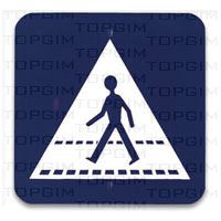 Sinal de trânsito para educação rodoviária: Passagem para Peões