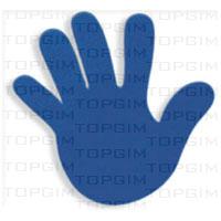 Mão esq. + drta. Em pvc - 11x16cm.