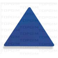 Triângulo em pvc - 17x28cm.