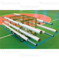 Carro metálico para bolas e postes de voleibol