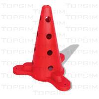 Cone de Sinalização em PVC - base triangular - Económico