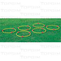Arco com bolas coloridas para situações de treino ou aprendizagem