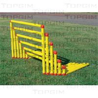 Conjunto de 6 barreiras em PVC desmontáveis