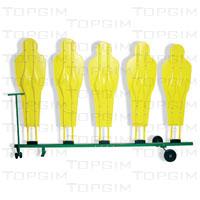 Carro para transporte de barreira profissional de 5 elementos