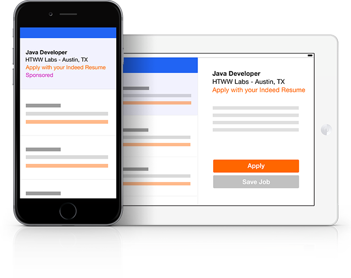 reach mobile applicants on indeed. Resume Example. Resume CV Cover Letter