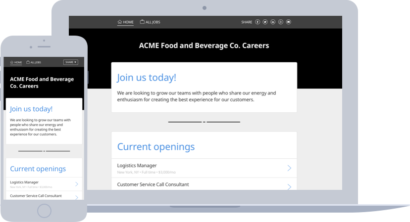 Career Page example screenshot
