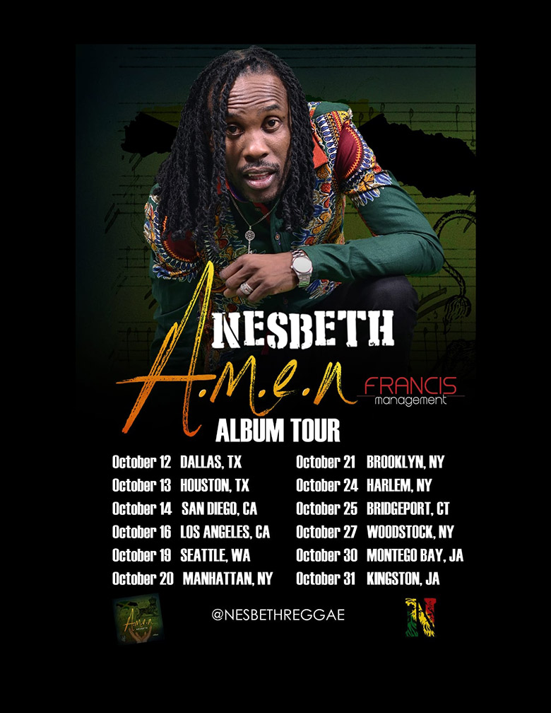 Nesbeth announces debut album and supporting tour | Top Shelf Reggae