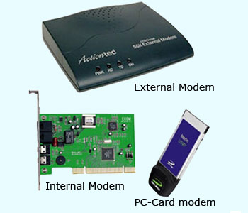 Types of modem driver errors