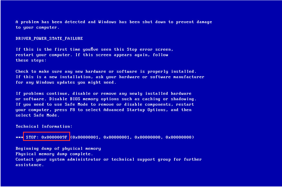 How to fix a driver Power State Failure in Windows 7