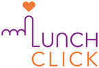 LunchClick Logo (White Portrait)
