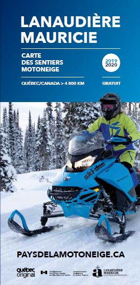 Mauricie | Lanaudière Snowmobile Map 2019-2020
