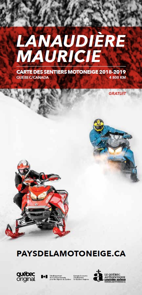 Mauricie | Lanaudière Snowmobile Map 2017-2018