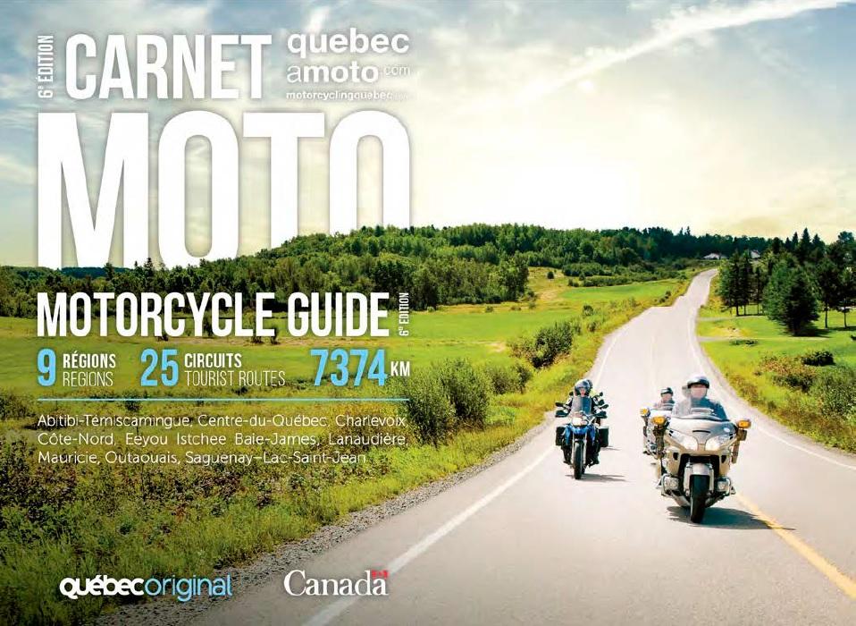 Carnet moto : 9 régions
