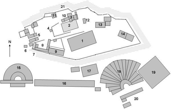 Acropolis Athens site map