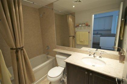 Main Bath With A 4-Piece Bath & Full Sized Mirror.