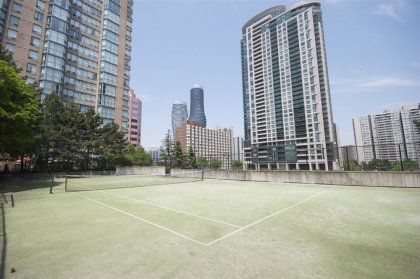 Private Tennis Court For The Residents Of The Enfield Place Condominiums.
