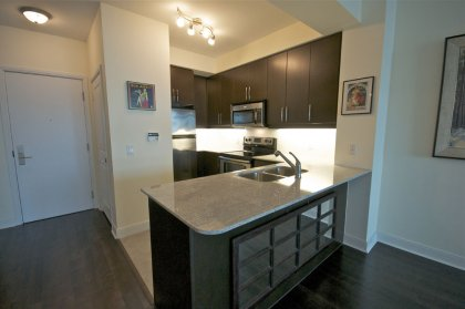 Designer Kitchen Cabinetry With Stainless Steel Appliances, Granite Counter Tops, Valance Lighting, Undermount Sink & A Breakfast Bar.