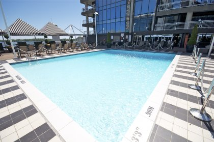 5TH Floor Amenities - Featuring Refreshing Outdoor Pool & Tanning Deck Facing Stunning C.N. Tower & Lake Views.