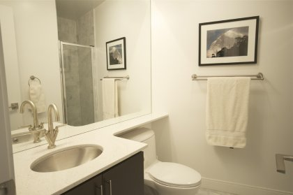 Main Bath With A 3-Piece & Full Sized Mirror.