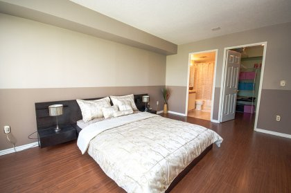 A Spacious Sized Master Bedroom With A 4-Piece Ensuite & Large Walk-In Closet.