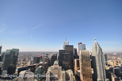 Spectacular Views Of Toronto's Skyline Including The Financial District & The Iconic Royal York Hotel.