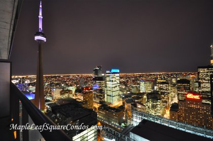Spectacular Night Views Of Toronto's Skyline Including The CN Tower, Rogers Centre, Ritz Carlton & The Iconic Royal York Hotel.