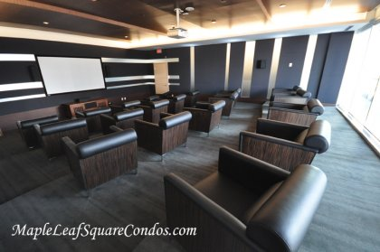 The Exclusive & Private Theatre Room.