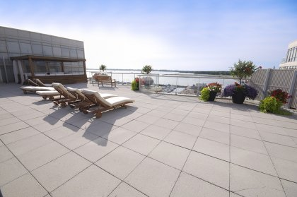 Stunning Outdoor Roof Top Tanning Deck With B.B.Q's Overlooking Toronto's Harbourfront & C.N. Tower Views.
