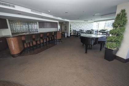 Stunning Roof Top Lounge / Party Room Area With Outdoor Patio Terrace & Bbq's Facing Panoromic Lake & City Views.