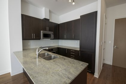 Designer Kitchen Cabinetry With Miele Stainless Steel Appliances, Granite Counter Tops, Undermount Sink & A Breakfast Bar.