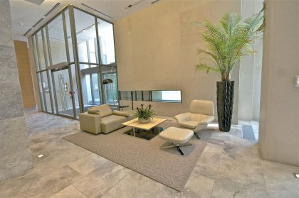The Grand Lobby Area At One Bedford.
