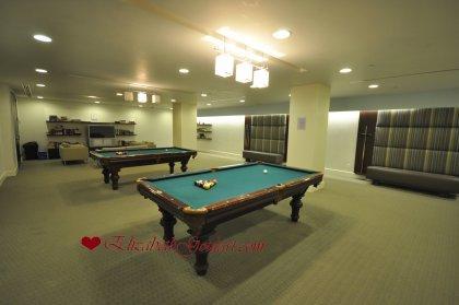 2nd Floor - WaterClub Billiards / T.V. Room.