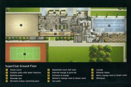 SuperClub Complex Ground Floor - Floor Plan Of Amenities.