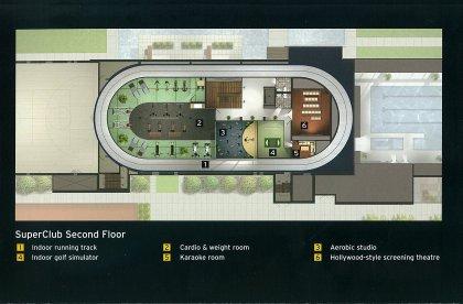 SuperClub Complex 2nd Floor - Floor Plan Of Amenities.