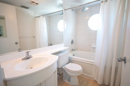 Main Bath With A 4-Piece & Full Sized Mirror.