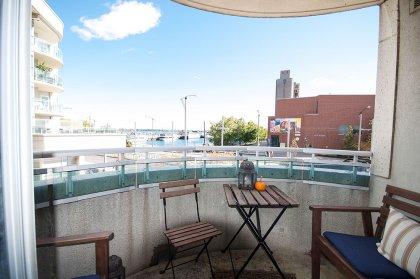 Balcony Facing Lake Views.
