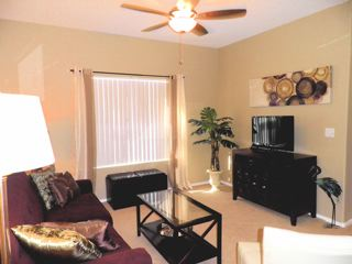 flat screen HDTV w/ premium cable & HBO, ceiling fan