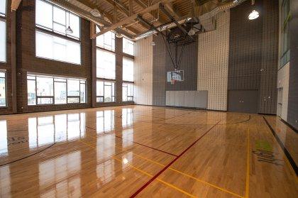 Full Sized Basketball Court.