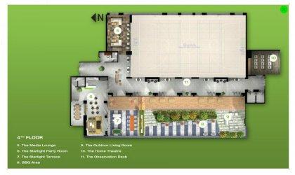 4th Floor - Amenities Floor Plan.